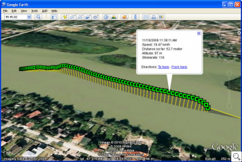 DigiTrainer data in GoogleEarth