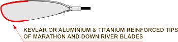 Marathon/Down River Blade with Kevlar/Titanium Tip