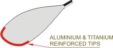Aluminium & Titanium Reinforced Tips