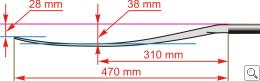 Brača Slalom Sjoa paddle dimensions