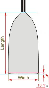 Brača Canoe Uni Exra Wide Dimensions