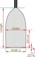 Brača Canoe Uni Super Fat Dimensions